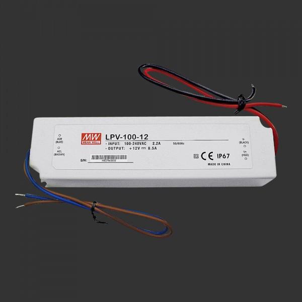 LED-Netzteil 12 V DC, 100 W, zum Einbau in Anschlussboxen