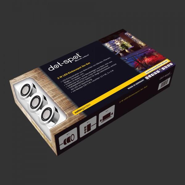 colorgarden LED Einbau Set 3 Watt